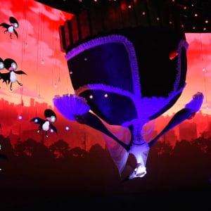 [動画アリ]巨大な「ワルプルギスの夜の魔女」が立体で出現!AJ2019『マギアレコード魔法少女まどか☆マギカ外伝』ブース演出が胸熱!