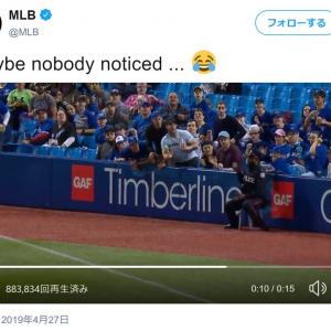 メジャーリーグの試合でプレイの邪魔しても警察官じゃ退場に出来ないよね
