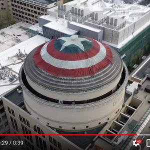 『アベンジャーズ/エンドゲーム』公開記念!? マサチューセッツ工科大学(MIT)のGreat Domeにキャプテン・アメリカの盾が出現