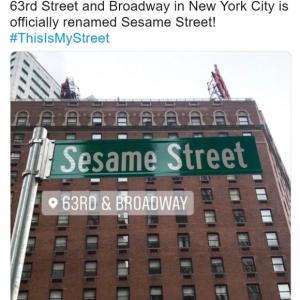 マジです ニューヨークにセサミストリート出現