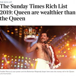 ロックバンドのクイーン 資産額で本物のクイーン(エリザベス女王)の上を行く