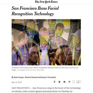 サンフランシスコ市が警察の顔認証技術使用を禁止 アメリカの主要都市として初