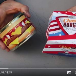 缶詰バーガーに続き缶詰チーズバーガーのお味は?
