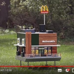 """『McHive』はハチのための""""世界最小のマクドナルド""""なんです"""