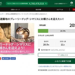 プレーリードックとシマリスのお婿さんを迎えたい! 福井・⾜⽻⼭公園遊園地がクラウドファンディング実施中