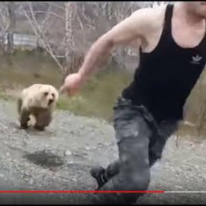 動画:ヒグマに背を向けるとこうなる やっぱりエサとして見てるんだな……