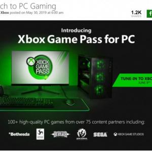 マイクロソフト PC向け定額ゲームサービス『Xbox Game Pass for PC』を発表