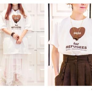 6月20日は「世界難民の日」 『Q-pot.』が『LOVE for REFUGEES T-shirts』を発売