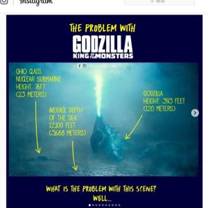 『ゴジラ キング・オブ・モンスターズ』のポスターっておかしくね? 海の上で仁王立ちするゴジラの下ってどうなってるの?