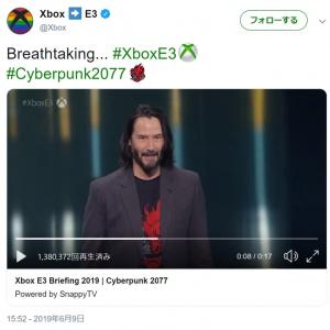 『Xbox E3 Briefing 2019』にキアヌ・リーブス登場で会場大盛り上がり