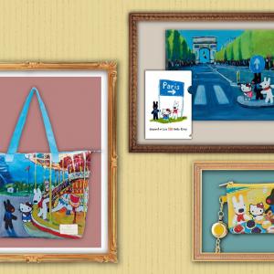 油絵タッチが可愛すぎる!『ハローキティ』×『リサとガスパール』新アート使用のコラボアイテム第2弾発売