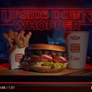 バーガーキング×『ストレンジャー・シングス』=『Upside Down Whopper』