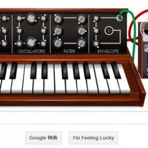 Googleのトップページが『Moog』仕様に! その気になれば『エレクトリカルパレード』も作曲可能?