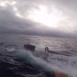 動画:麻薬密輸取り締まり最前線 ヤツらは工作員御用達の半潜水艇でやって来る!