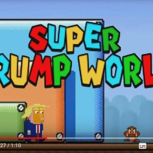 風刺動画:マリオに詰め寄られて逃走したトランプ大統領 ピーチ姫にとどめを刺される