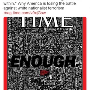 """銃乱射事件に対し""""いい加減にしてくれ"""" タイム誌の表紙が話題"""