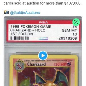 驚きの高値で英語版の初期ポケモンカードが落札される その額なんと・・・