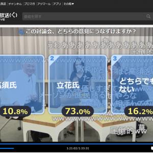 高須克弥院長と立花孝志党首のニコ生討論会の結果に百田尚樹さん「私が司会を担当していたなら50:50にした自信がある」