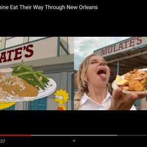「ザ・シンプソンズ」のシーンをガチで再現しました ニューオーリンズでご当地グルメ三昧