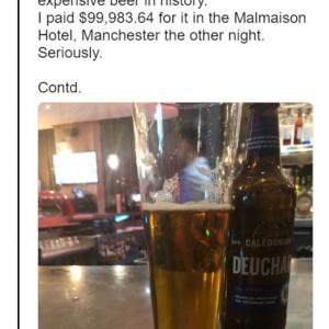 計算間違いにもほどがある 700万円以上の世界一高価なビールを飲んでしまった男性