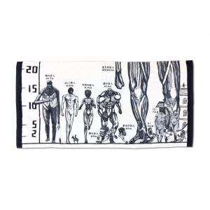 巨人身長対比バスタオル欲しい!「進撃の巨人展FINAL in ひらパー」リーブス商会直営店に新商品 WIT STUDIO描き下ろしイラストグッズも