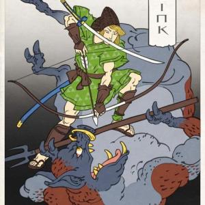 海外アーティストが描いた浮世絵風のゲームキャラクター達 「マリオ」「ロックマン」ともに味が出てる