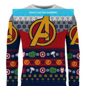アメコミヒーローたちのアグリー・クリスマス・セーター 言うほどアグリーじゃないかな