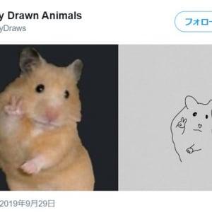 動物の写真をイラストにしてみました 思わず笑っちゃうイラストになりました