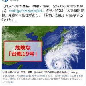 """台風19号のわかりやすいヤバさ""""ディズニーシーのストームライダーより強いレベル""""と話題"""