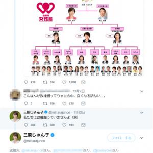 自民党・三原じゅん子参院議員「私たちは政権握っていませんよ」「政権を握っているのは総理大臣だけですよ」ツイートが波紋