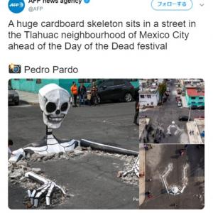 インパクトありすぎなストリートアート 死者の日という文化遺産を地域の子供たちに伝えるため