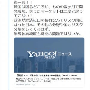 立憲・塩村あやか参院議員「あーあ!!韓国は困るどころか、ものの数ヶ月で開発成功」韓国企業のフッ化水素国産化記事でツイートし反響