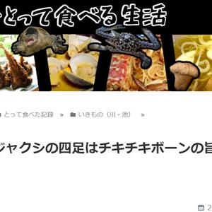 オタマジャクシの四足はチキチキボーンの旨さだった(東京でとって食べる生活)