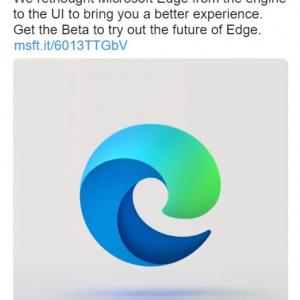 「Microsoft Edge」の新しいロゴが何かに酷似している件