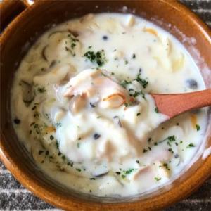 レンジで1発のレシピ「きのこチーズチャウダー」がネットで反響
