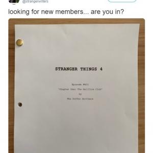 「新メンバーを探しています……参加しませんか?」という「ストレンジャー・シングス」公式ツイートに応募者多数殺到