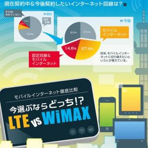 インフォグラフィックで早分かり LTE vs WiMAX モバイルインターネット比較調査
