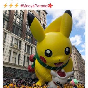 ピカチュウや悟空のバルーンも登場 「メイシーズ・サンクスギビングデー・パレード」