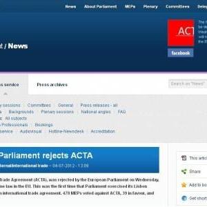 """欧州議会のACTA否決で深まる日本の""""監視・検閲型""""知財政策への疑念"""