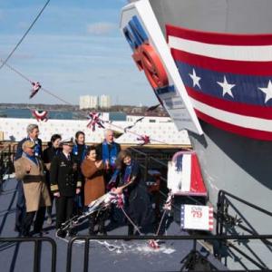 元駐日大使が再び「名付け親」に 2代目空母ジョン・F・ケネディ進水