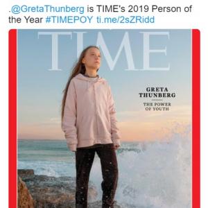グレタ・トゥーンベリさんが2019年のパーソン・オブ・ザ・イヤーに選出 「また自分に自信がない中年男性たちが怒り出すぞ」