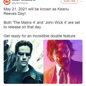 キアヌ・リーブス主演のマトリックスとジョン・ウィックの最新作が2021年5月21日の同日公開予定 「無茶苦茶デカいポップコーンが必要になるな」