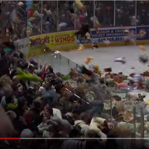 動画:「アイスリンクに一度に投げ込まれたぬいぐるみの数」の世界記録がこちら