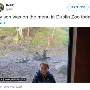 どう見ても少年を餌としか見ていないであろうトラ 「トラの夕食メニューには人間の子供って書いてあるのかな」