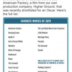 """オバマ元大統領が選ぶ""""2019年のお気に入り映画"""" 「トランプの出演シーンがカットされた『ホーム・アローン2』は?」"""
