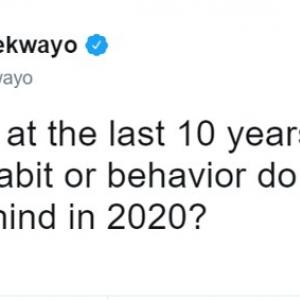 2020年代の始まりももうすぐそこです 2010年代に置き去りにしたい習慣や行動って?