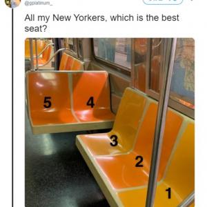 一番いい席はどれ? あなたならどこに座りますか