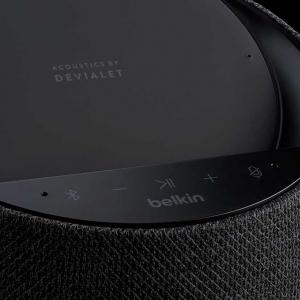 BelkinがDevialetと共同開発したワイヤレス充電器付きHi-Fiスマートスピーカー「SOUNDFORM ELITE」を発表