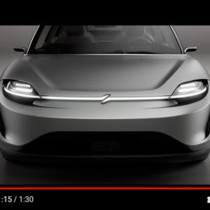 ソニーの電気自動車「VISION-S」 CES2020でプロトタイプ車両を発表