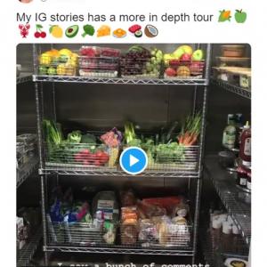 """""""セレブ""""のキム・カーダシアンが公開した自宅の""""冷蔵庫"""" 「家の中がスーパーマーケットじゃん」"""